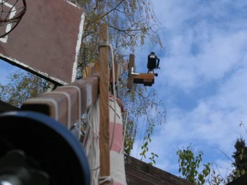 Kamerakran von unten
