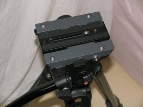 Manfrotto Stativkopf mit Schnellwechselplatte